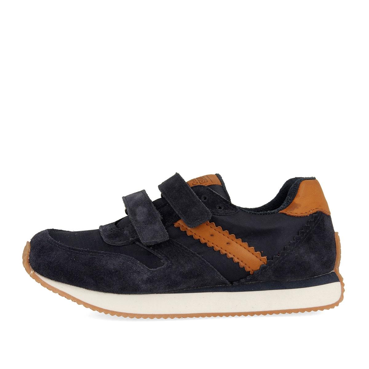 Sneakers azul marino con cierre de velcro doble para niño 45598