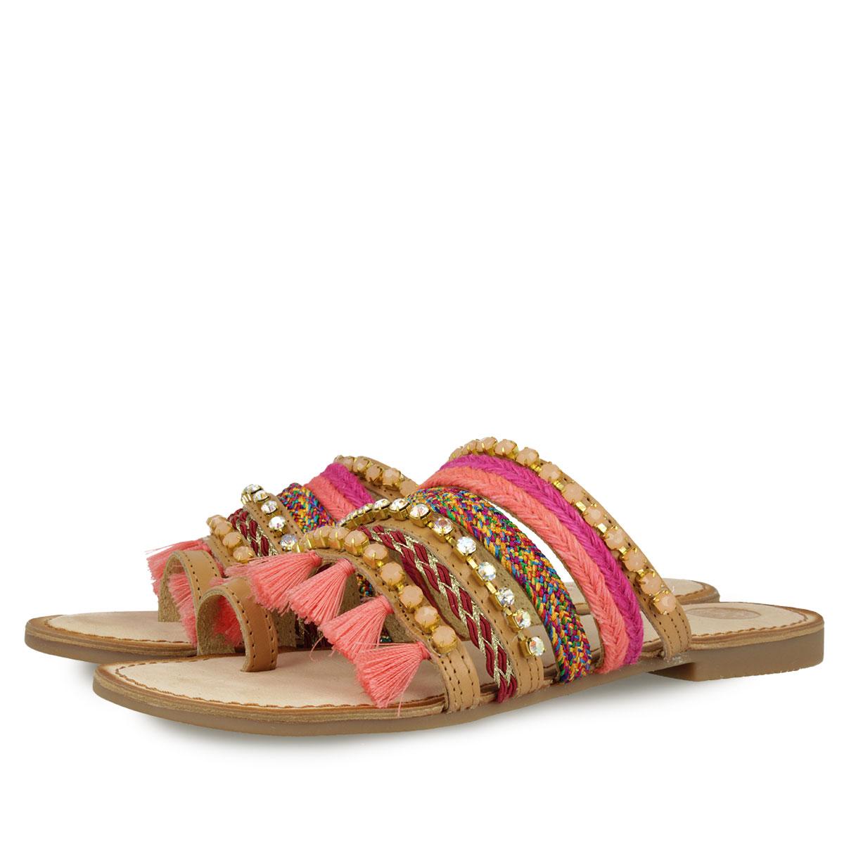 Zapatos rosas étnicos para mujer l59wCctW