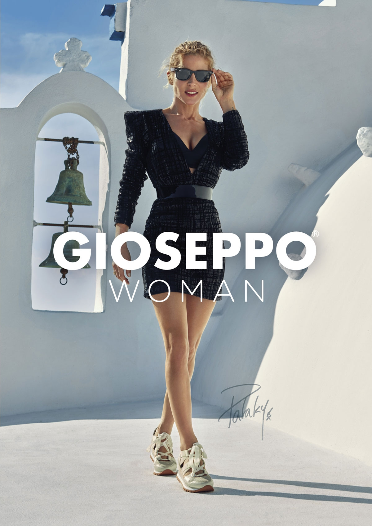 Gioseppo-zapatillas blancoo with openings and wedge mujer Etienne